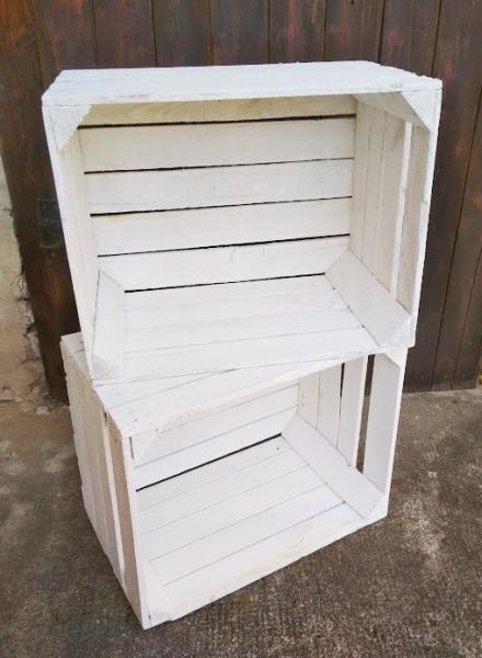 Holzkisten weiß