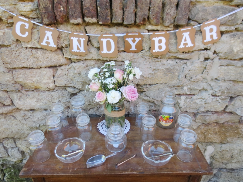 Candy Bar Vorratsglas
