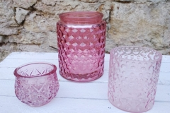 Windlicht / Vase rosatöne