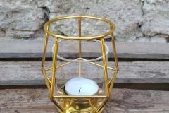 Windlicht Gold Draht