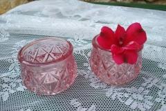 Windlicht / Vase alt rosa