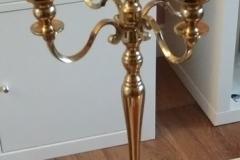 Kerzenständer gold 5 armig