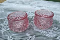 Vase / Windlicht alt rosa