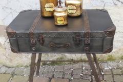 Koffertisch aus Metall