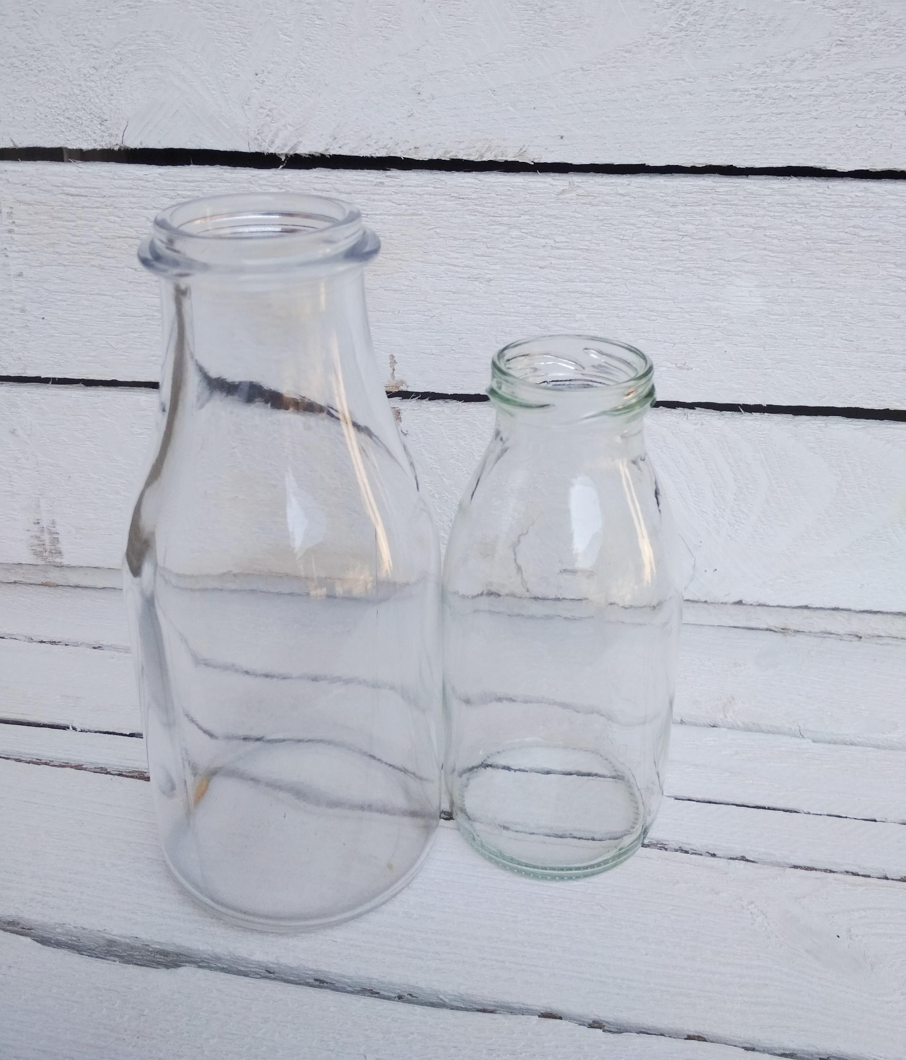 Vase Milchflasche Set