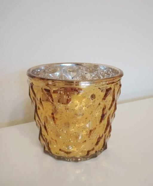 Vase Bauernsilber gold