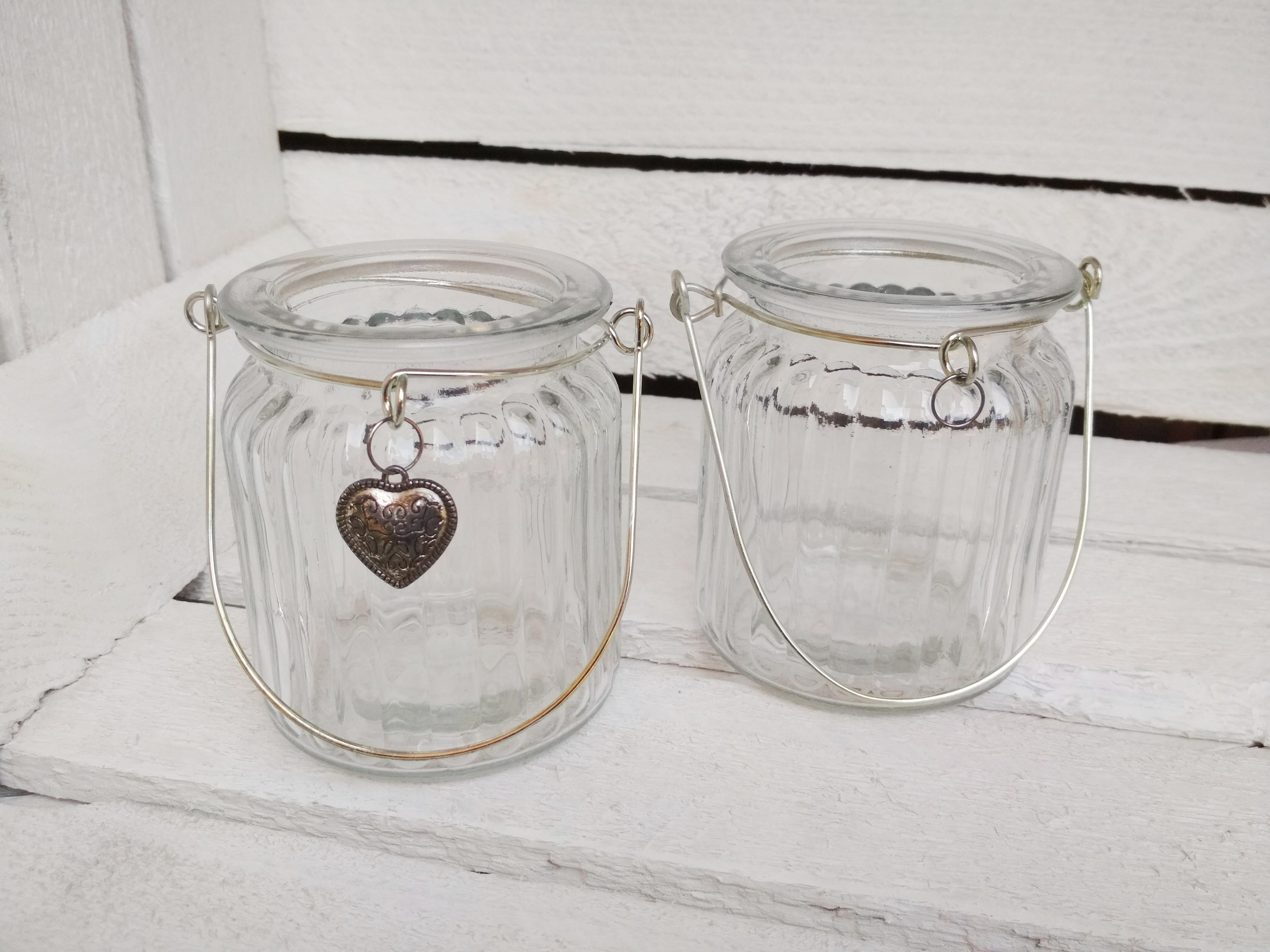 Vase gerillt mit Herz