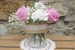 Vase Rustikal mit Jute & Spitze